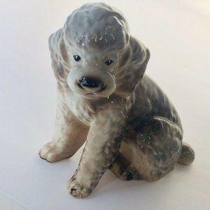 Vintage Shafford JAPAN Gray White Standard Poodle